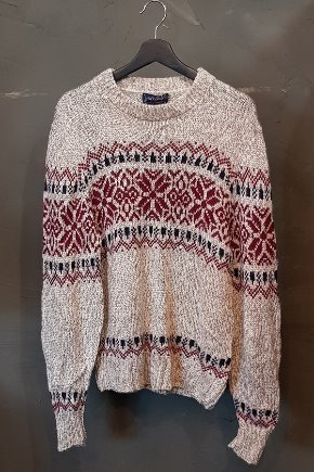 Pattern Ski Sweater (M-L)