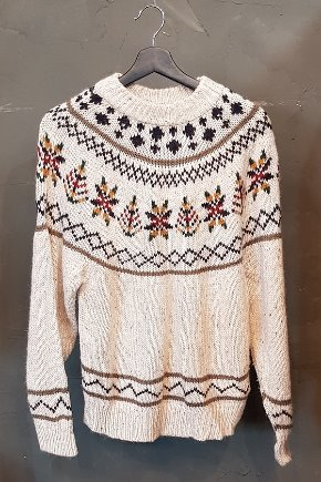 Pattern Ski Sweater (S)