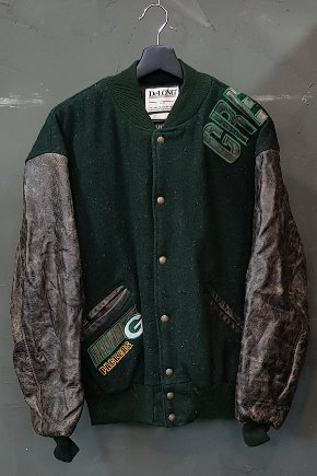 90's De Long - Varsity - NFL - Quilted Lined - Made in U.S.A. (L)